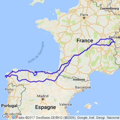 Camino del Norte/Santiago+Picos de Europa, Saint-Jacques de Compostelle
