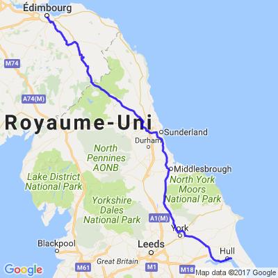 Roadtrip en Ecosse (1/7) - De Hull à Edimbourgh