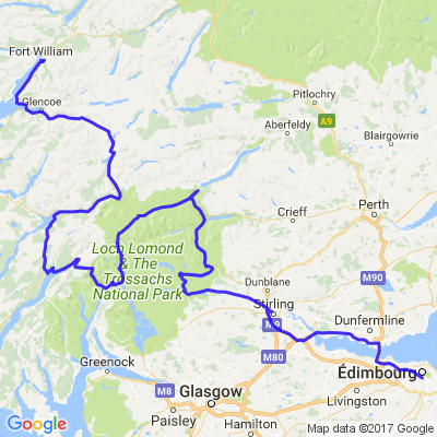 Roadtrip en Ecosse (2/7) - De Edimbourgh à Fort William