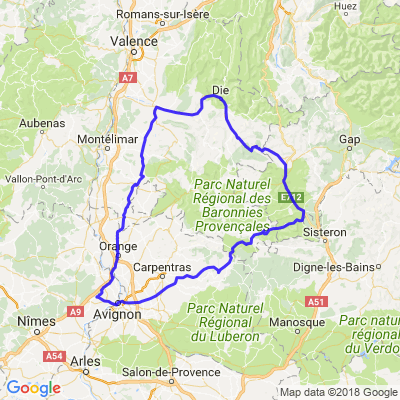 Drôme depuis Rochefort du Gard