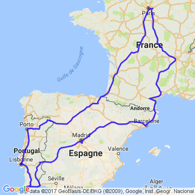 Voyage moto France Espagne Portugal