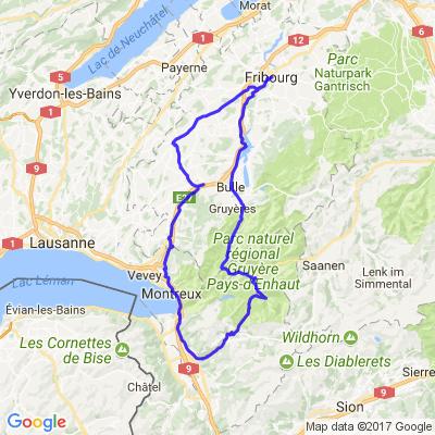 Ballade Fribourg - Vaud