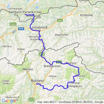 Trip Août 2017 étape N°2 Tyroll - Dolimites