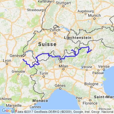 Trip Août 2017 étape N°3 et 4 Alpes Italiennes et Françaises