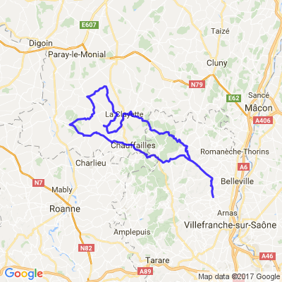 route du Haut Beaujolais et du Brionnais