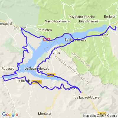 Tour du Lac de Serre Ponçon