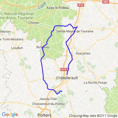 Châtellerault > 732 la Bataille Via Richelieu