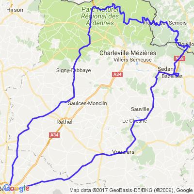 La vallée de la Semoy et de la Meuse au départ de Reims