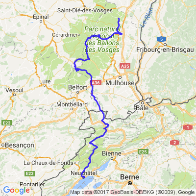 Neuchâtel -> Ribeauvillé / Ballon d'Alsace