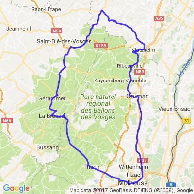 Ribeauvillé -> mulhouse ( Ballon )