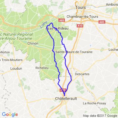Boucle de Châtellerault à Azay le Rideau