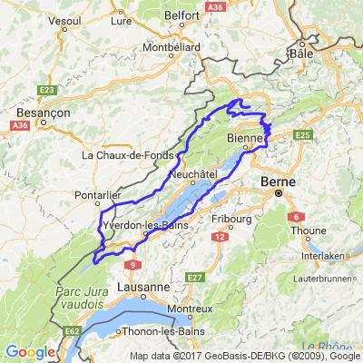 Tour de 3 lacs Joux, Neuchatel, Bienne
