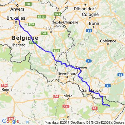 Bruxelles Voges Alsace Allemagne Luxembourg Bruxelles 2016 ..