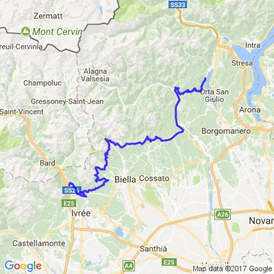 De la vallée d'Aoste au Lac D'Orta par les 1000 virolos