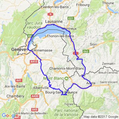 Tour du Mont-Blanc sur un week-end au départ de Lausanne