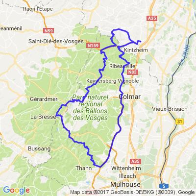 Routes des vins d'Alsace et route des crêtes Vosgiennes
