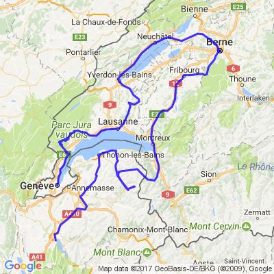 Balade tour des lacs de suisse