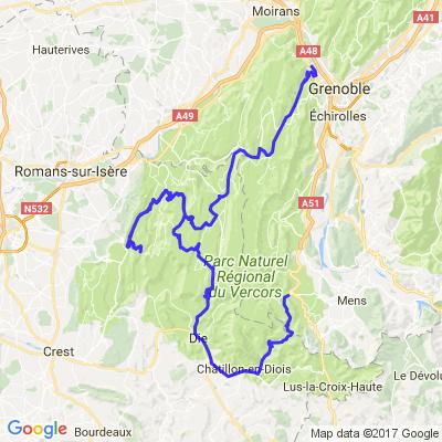 VERCORS de Die à Grenoble
