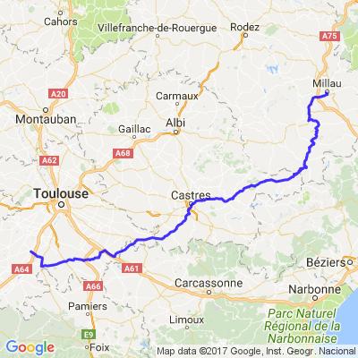 Sud Toulouse à Millau