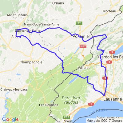 Virée entre le canton de Vaud, le Jura Français, le Haut Doubs et le canton de Neuchâtel.