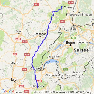 Col du Bonhomme  arrivée Chambéry