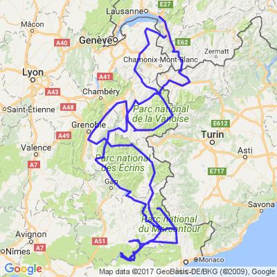 Route des grandes alpes, gorges du Verdon et du Daluis, route Napoléon et autre