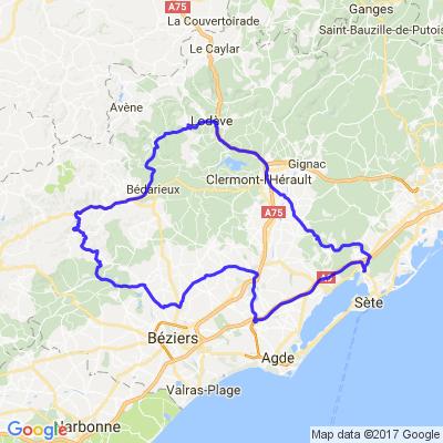 Balade La Tour-sur-Orb - Bédarieux - Le Poujol-sur-Orb - Vieussan - Lieuran-lès-Béziers - Pézenas