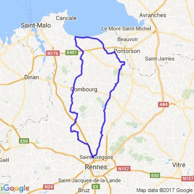 Rennes Montgermont- Hirel ( baie du mont saint michel)- Montgermont
