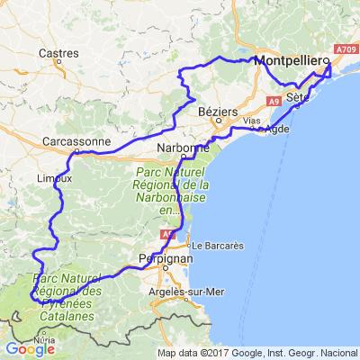 Balade vers les Pyrénées Orientales, retour le long de la Méditerranée