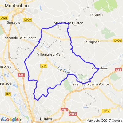 Balade 2h Nord Toulousain A la recherche de petites routes