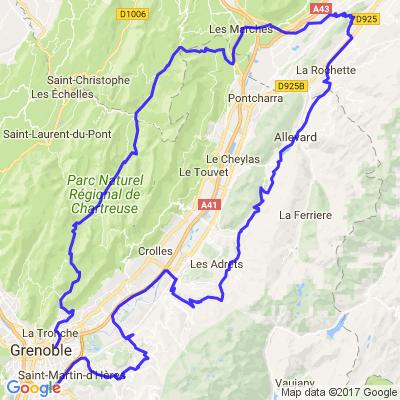 Grenoble-Grenoble par les balcons de Belledonne et de Chartreuse