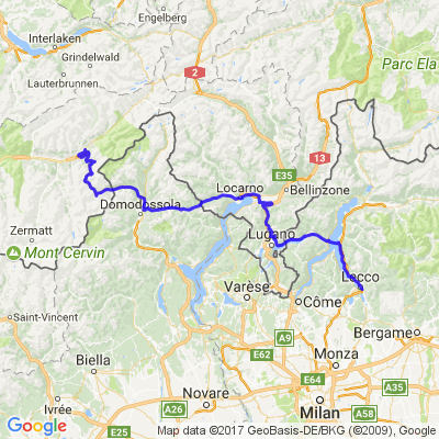 Sur la route des lacs  suisse italie 1