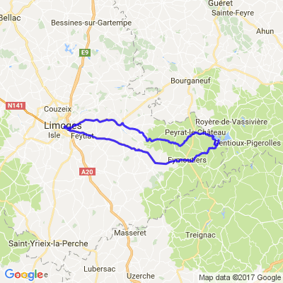 Limoges - Lac de Vassivière - Peyrat-le-Chateau-  Limoges