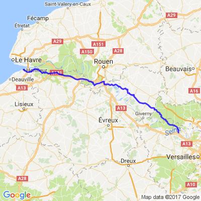 Retour de Honfleur vers le nord parisien via le véxin nord ouest