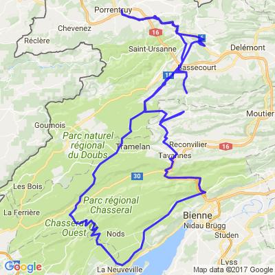 Tour par 4 cols (Rangiers-Mont Crosin-Chasseral-Pierre Pertuis)