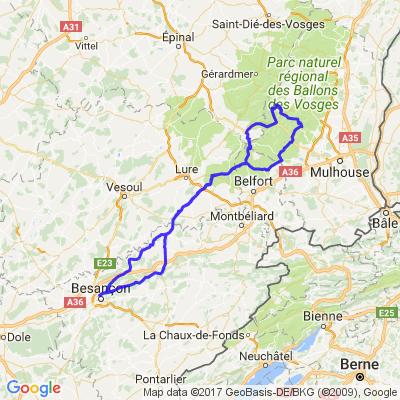 Besançon / Le Ballon d'Alsace