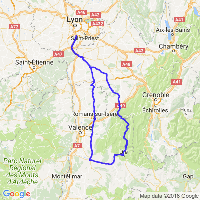 diois et vercors en partant de Lyon