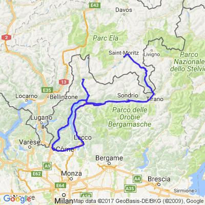 Côme (Italie) - St Moritz (suisse)