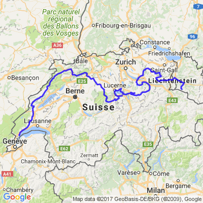 La Suisse d'ouest en est