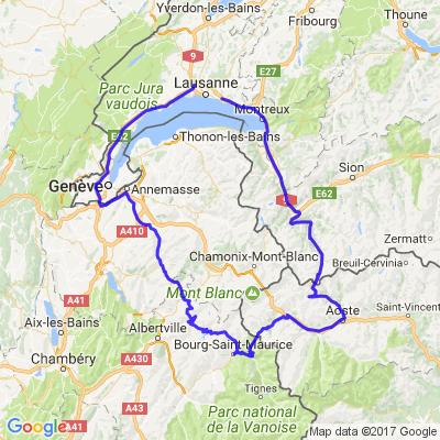 Tour du Mont Blanc. Sortie des motards TL 2017