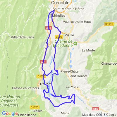 Le tour du lac de Monteynard - départ Grenoble Comboire.