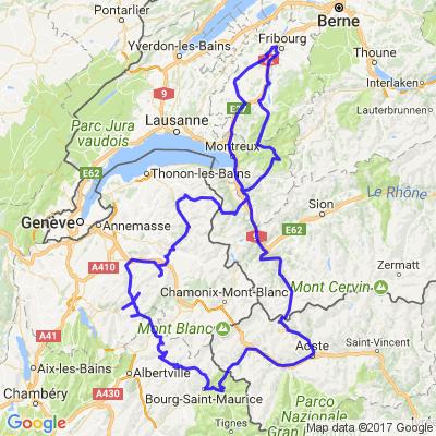 Tour du Mont-Blanc depuis la Suisse (Fribourg)