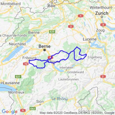 Fribourg - Gurnigel - Schallenberg - Panorama - Sarnen - Glaubenberg