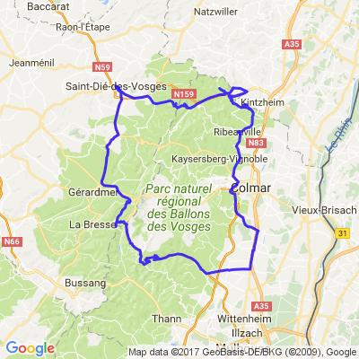 Balade entre les cols des Vosges et la route des vins Alsacienne.