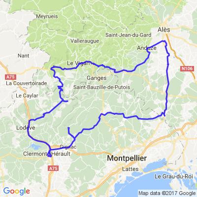 Jolies routes et beaux paysages entre Hérault et Gard