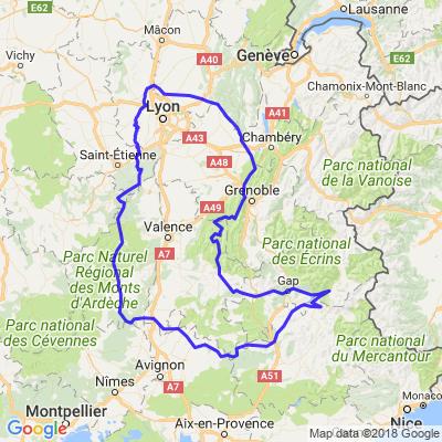 Départ de Lyon pour 3 jours de virolos