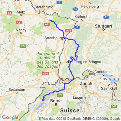 Boucle - Forêt noire - Jura Suisse - Vosges (étape 1)
