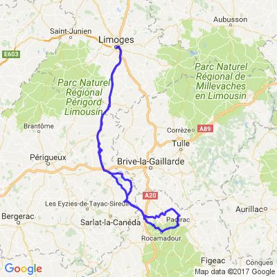Limoges, Rocamadour, Gouffre de Padirac