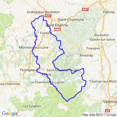 Ardèche et Haute Loire depuis Sainté