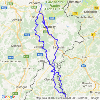 Vallée de l'Our (Ourtal) Belgique, Luxembourg et Allemagne